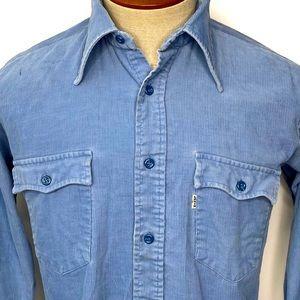 Vintage Levi's 80's Sawtooth Pocket Shirt Corduroy